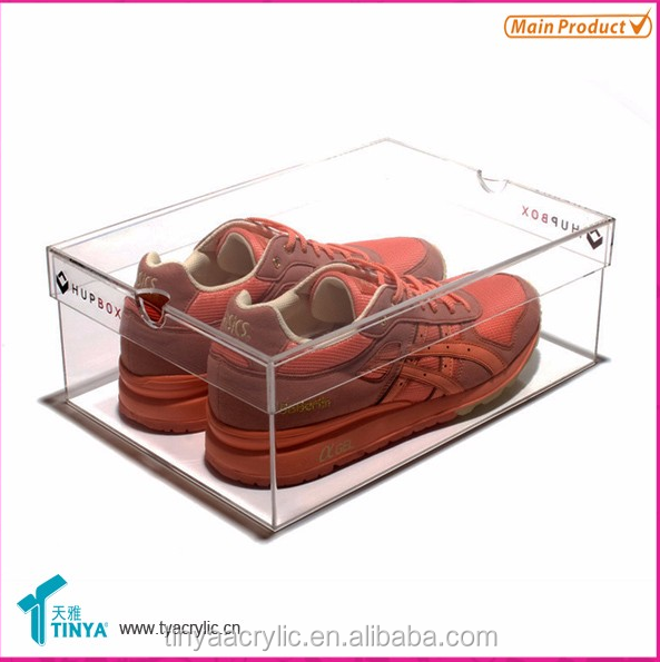 top selling good quality clear top manufacturer nike shoe box for nike shoes with <strong>acrylic</strong>