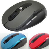 Hot Optical Wireless 2.4 GHZ Laptop PC Computer Netbook Mouse 6 Keys 1600 dpi High Quality Wheel Mouse Black