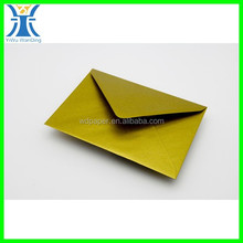 Yiwu New Arrived craft plain custom made pearl paper luxury unique Gold envelopes c6