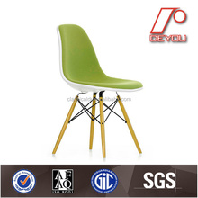 Designer replica chair, plastic chair with wooden leg, outdoor chair H-0922