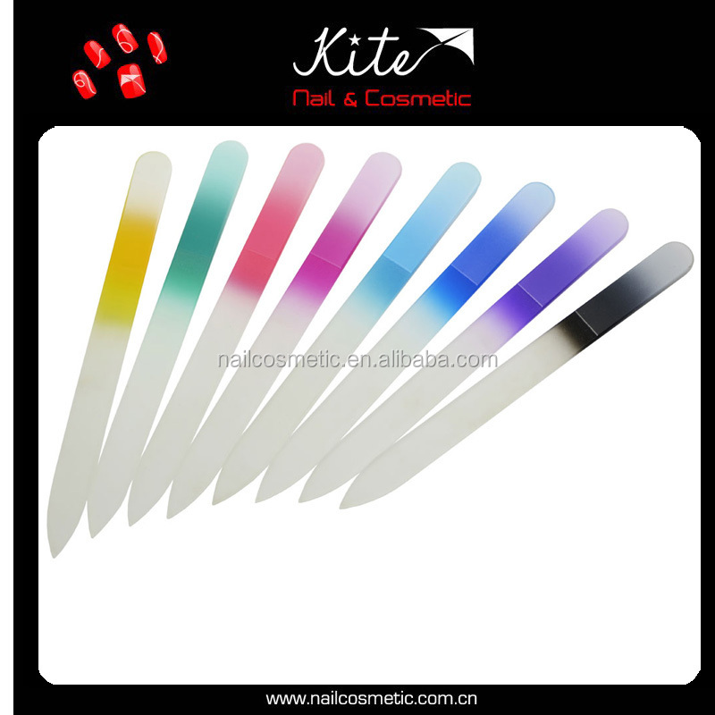 New Arrival Glass Nail Files Tempered Glass Files Customized Printed Glass Emery Board