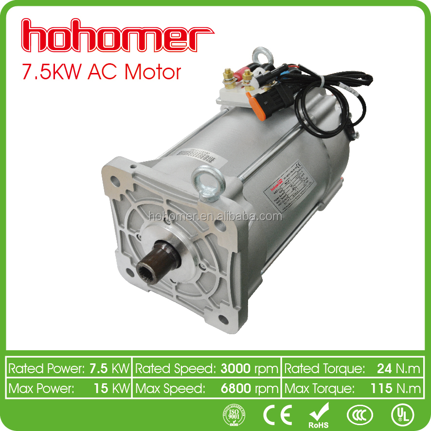 7.5kw electric vehicle 3 phase ac induction motor