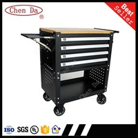 Lockable Steel 4 Drawers Tool Box