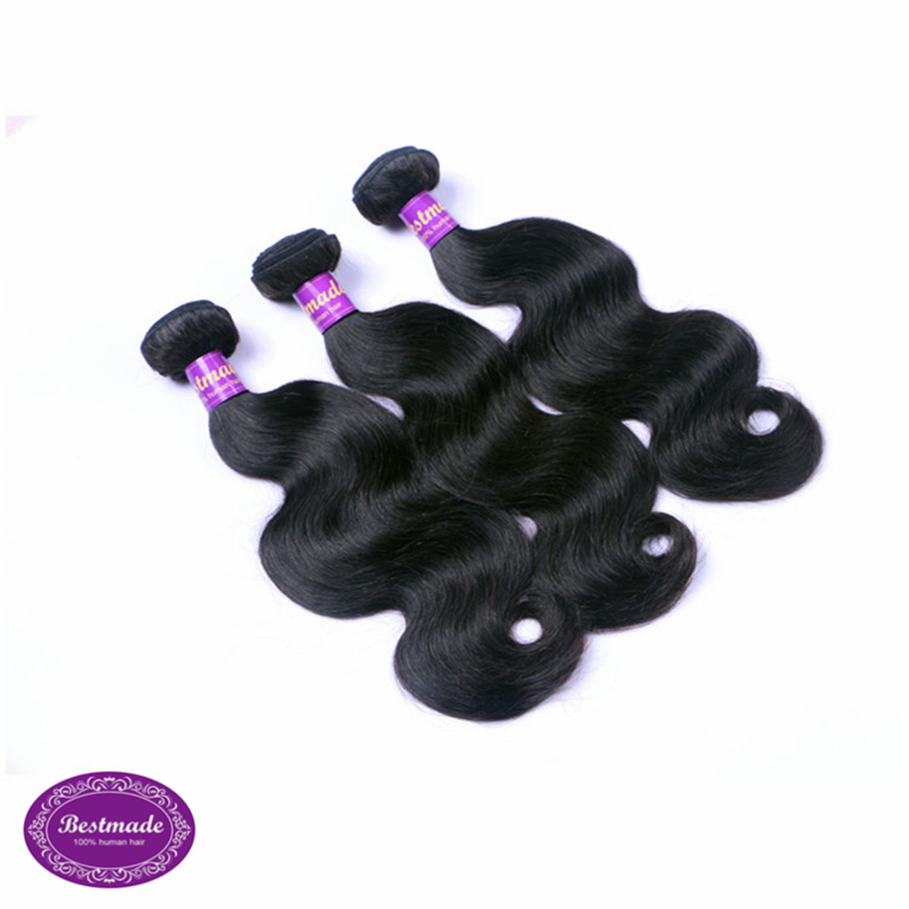 Indian Virgin Hair Body Wave Weft Unprocessed Human Hair Indian Body Wave With <strong>DHL</strong> Fast Shipping