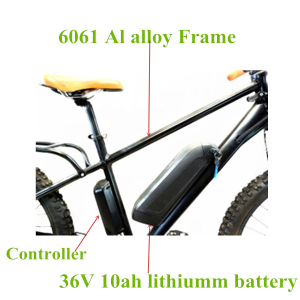 "Trotter 26"" 250W mountain electric bicycle al alloy frame 36V electric bike"