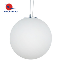 Simple large opal glass ball pendant light with adjustable suspension cable