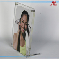 China Manufacturer custom acrylic 8x10 frameless picture frame with screw