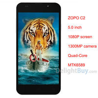 "DHL FREE ZOPO C2 Quad core 5.0"" FHD 1920 x 1080 MTK 6589 1GB RAM , 4GROM Android 4.2.1 WIFI GPS Bluetooth WCDMA"