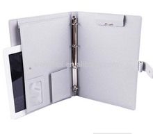 Simple Design High Quality White Leather Document Portfolio Case For Ipad