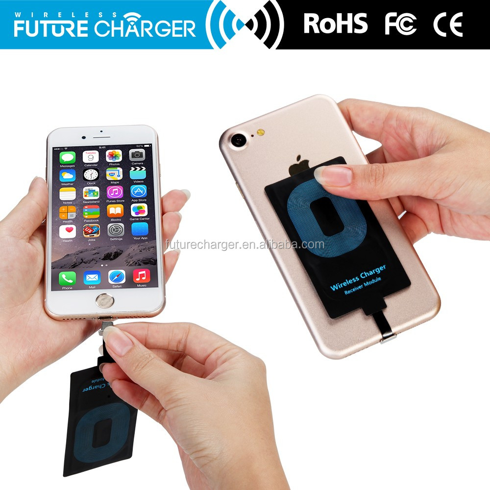 Inductive wireless qi receiver charger coil charging receiver for iphone 6S
