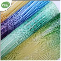 1.2mm Eco friendly crocodile embossed PU leather fabric