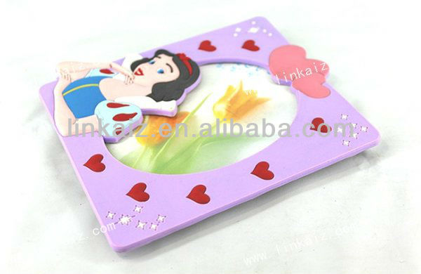 Hot Sale rubber /pvc beautiful flower photo frame