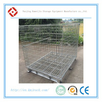 Warehouse Steel Stacking Euro Wire Mesh Cage