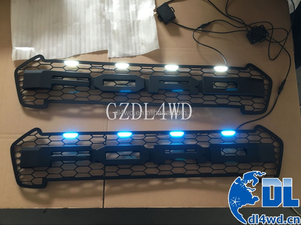 Auto Spare Parts For Ford Auto Grille 2015 2016 Ranger Grill With LED Light