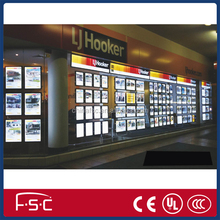 led window display light box for real estate