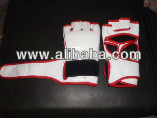 mma glove leather