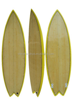Small size bamboo veneer face colorul painting light surfboard for Child