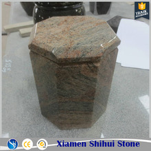 Pillar Shape Stone Cremation Urn Jar