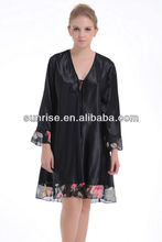 100% polyester twisted satin women's nightgown