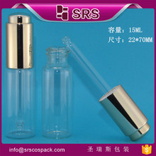 SRS packaging essential oil bottle with dropper , 15ml glass oil container