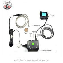 Ultrasonic fuel level gauge with multi function gps tracking system