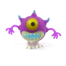 Funny wind up walking cyclopia monseter toy, Halloween purple one eye monster