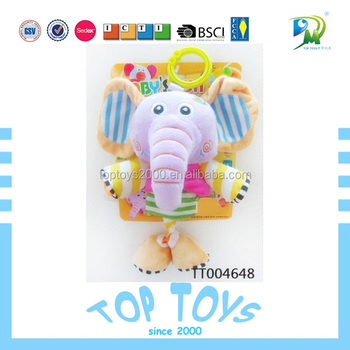 Lovely Plush Pull Musical Baby Toys Animal Elephant of High Quality Soft Touch