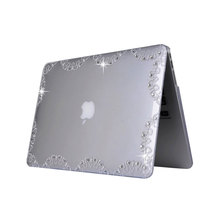 "high quality crystal laptop covers case transparent case for macbook pro 13"" case"