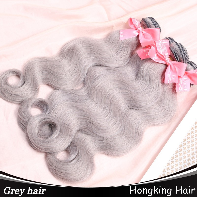 Good Quality Large Stock Cheap Peruvian Grey Human Hair For Braiding