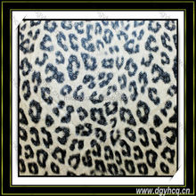 YUHUA high quality printed leopard faux leather for wallet
