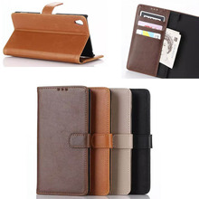 Smart phone holder wallet for Sony Xperia Z4, for Sony Z4 leather flip cover cell phone cases
