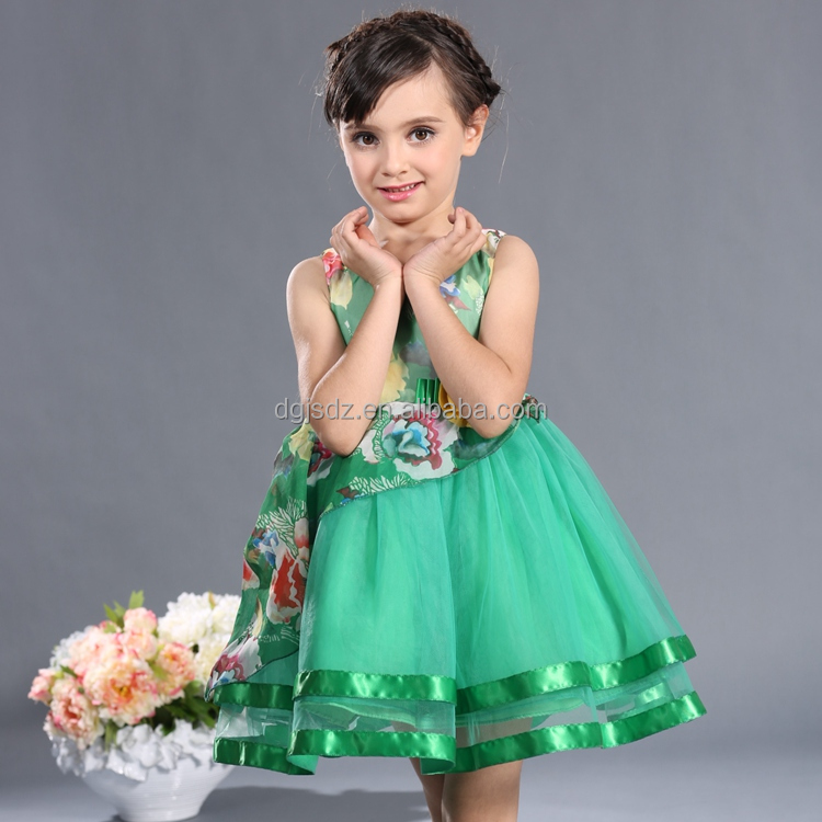 kids apparel green dresses for kids birthday tutu dress for kids