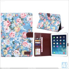 Wholesale Fashion Tablet Leather Case For Ipad Air 2 Stand Wallet With Card Slot