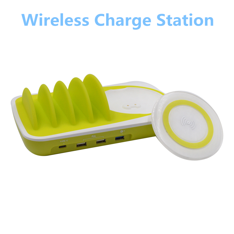 </h2>10A Multiple USB Charger 6-Port Desktop Charging Stand USB Charging Station with Innovative Removable Baffles smart</h2>