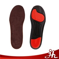 Breathable poron gel PU sport insoles deodorant sterilization ortholite PU insoles for shoes