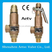 PTFE/Viton/EPDM Soft Sealing Bronze/Brass Safety Pressure Relief Valve