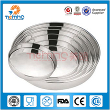 engraving logo customize Custom cheap metal tray/ Round tin tray