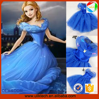 2015 hot selling baby dresses designs cinderella girls dress wholesale tv movie costumes fever cosplay costumes cloths for kids