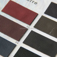 eco-friendly litchi grain pu leather for sofa / sofa leather