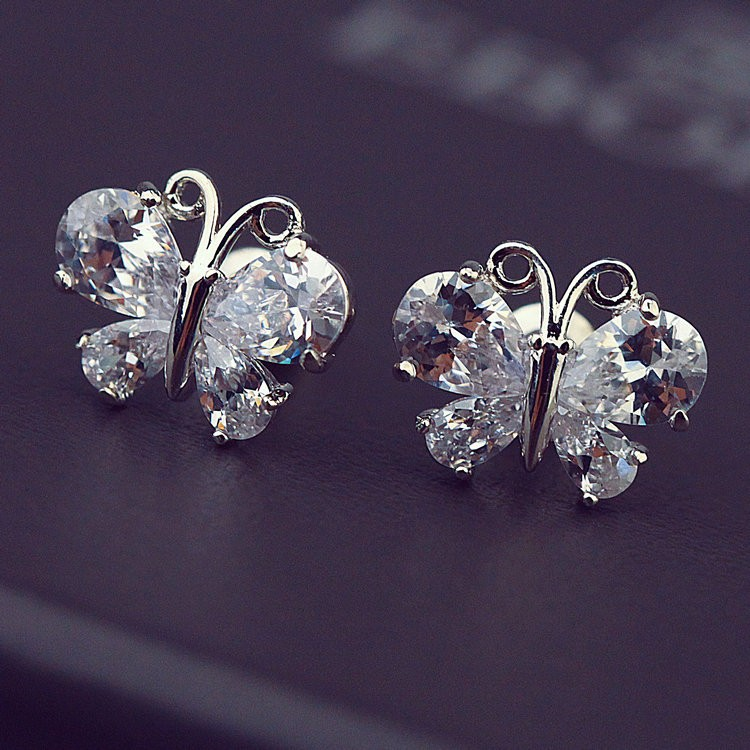 Top design <strong>Fashion</strong> 316L Stainless Steel zircon Earrings