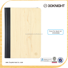 Whole sale new products wood grain leather case for ipad air 2, for ipad case