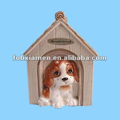 Hot Sale Ceramic Wholesale Ceramic Dog Figurine and Unique Dog House