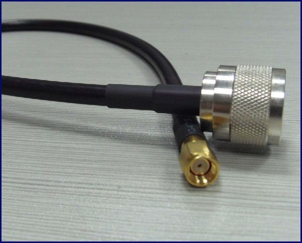 N type male plug to SMA female jumper cable with connector