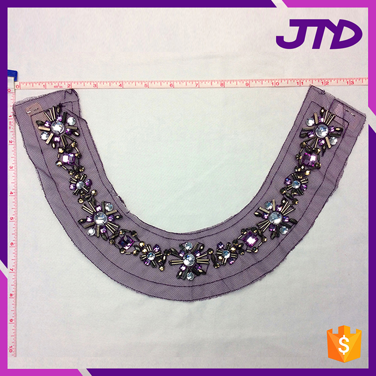 Garment Accessories Collar Designs Cute Beaded Patches For Clothing