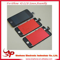 Cell phone replacement screen assembly for iphone 4s LCD digitizer touch glass