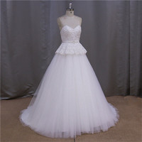 Fabulous 2015 customized 2014 newest purple and white wedding dresses