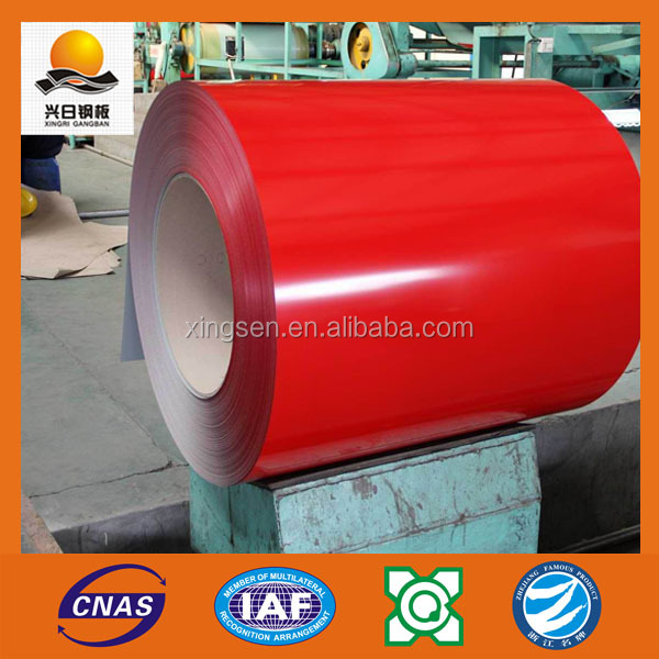 RAL color coated Pre-painted galvanized iron steel coil for roofing built