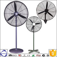 Factory copper motor metal material strong wind lowest price stand industrial exhaust fan