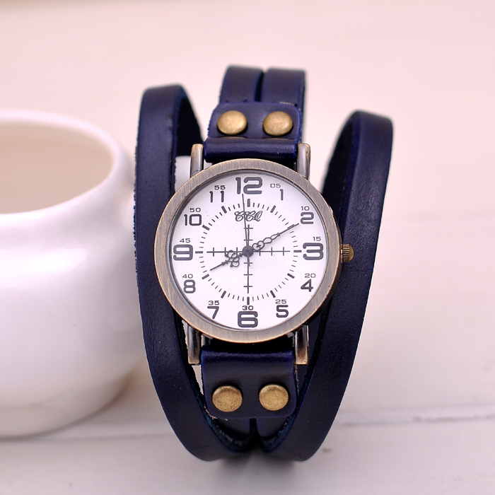 Bracelet Watch Promotional Pu Leather Quartz Wristwatch Cheap Price