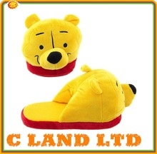 Custom Soft Plush Warm Cartoon Bear Shoe Slippers